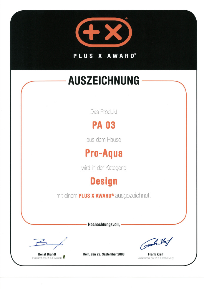 Certifikát Plus X Award